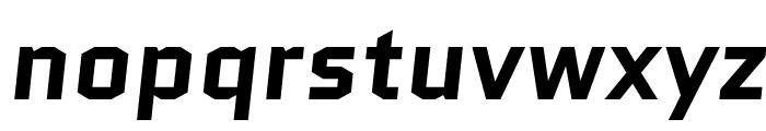Quantico-BoldItalic Font LOWERCASE