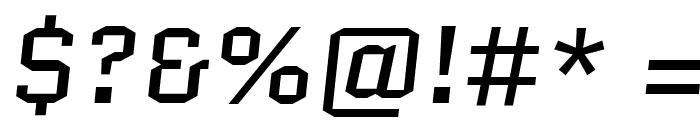 Quantico-Italic Font OTHER CHARS