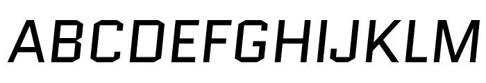 Quantico-Italic Font UPPERCASE