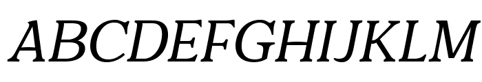 Quantik Regular-Italic Font UPPERCASE
