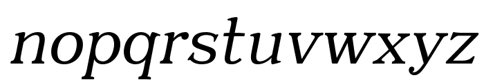 Quantik Regular-Italic Font LOWERCASE