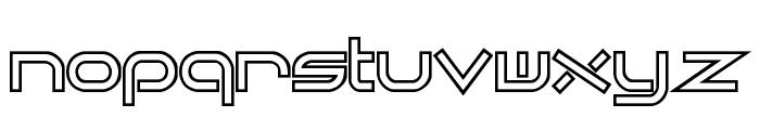 Quantum Flat Hollow [BRK] Font LOWERCASE