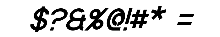 Quantum Italic Font OTHER CHARS