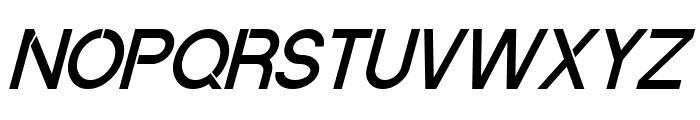 Quantum Italic Font UPPERCASE