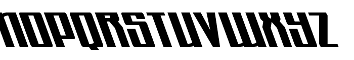 Quantum of Malice Leftalic Font UPPERCASE