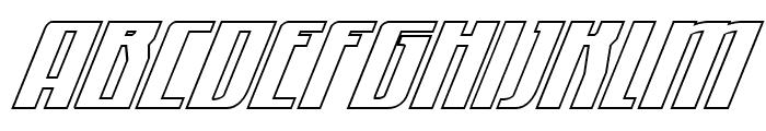 Quantum of Malice Outline Italic Font UPPERCASE