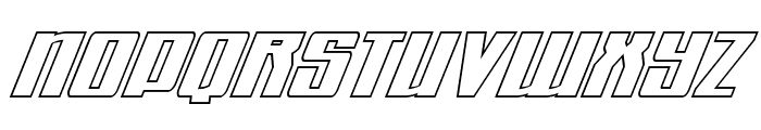 Quantum of Malice Outline Italic Font LOWERCASE