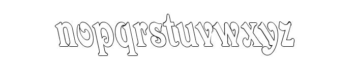 Quardi Bold Italic Font LOWERCASE