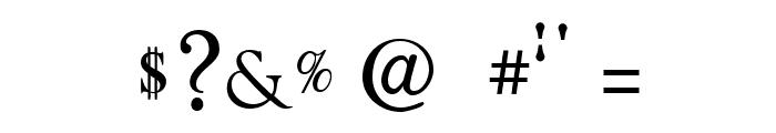 Quarella Regular Font OTHER CHARS
