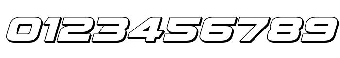 Quark Storm 3D Italic Font OTHER CHARS