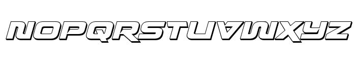 Quark Storm 3D Italic Font UPPERCASE