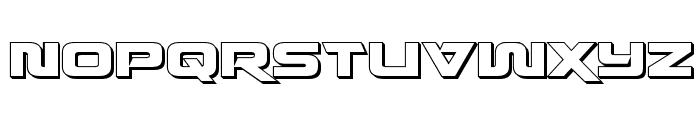 Quark Storm 3D Regular Font UPPERCASE