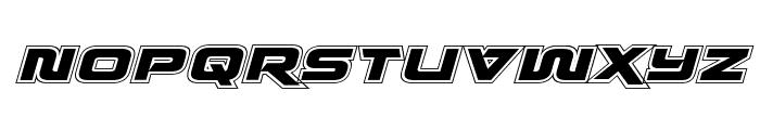 Quark Storm Academy Italic Font UPPERCASE
