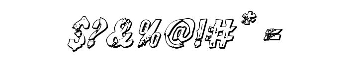 Quarrystone 3D Italic Font OTHER CHARS
