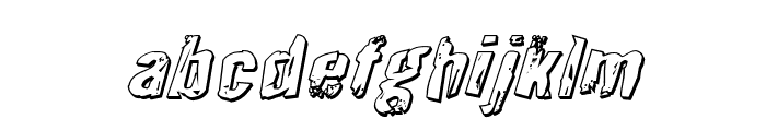 Quarrystone 3D Italic Font LOWERCASE