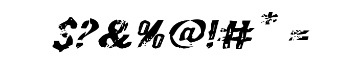 Quarrystone Expanded Italic Font OTHER CHARS