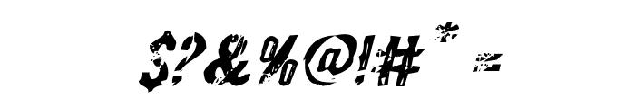 Quarrystone Italic Font OTHER CHARS