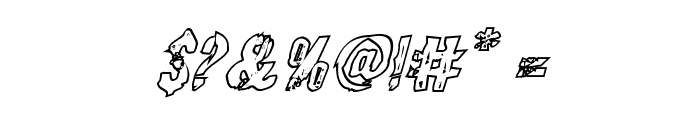 Quarrystone Outline Italic Font OTHER CHARS