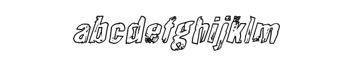 Quarrystone Outline Italic Font LOWERCASE