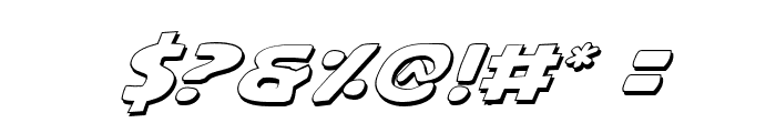 Quartermain Outline Italic Font OTHER CHARS