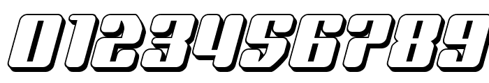 Quasar Pacer 3D Italic Font OTHER CHARS
