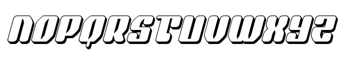 Quasar Pacer 3D Italic Font UPPERCASE