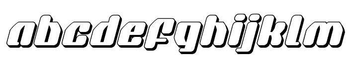 Quasar Pacer 3D Italic Font LOWERCASE
