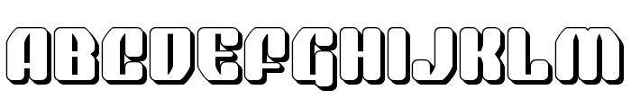 Quasar Pacer 3D Font UPPERCASE