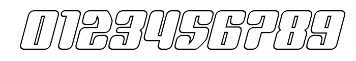 Quasar Pacer Outline Italic Font OTHER CHARS