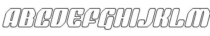 Quasar Pacer Outline Italic Font UPPERCASE