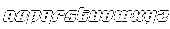 Quasar Pacer Outline Italic Font LOWERCASE