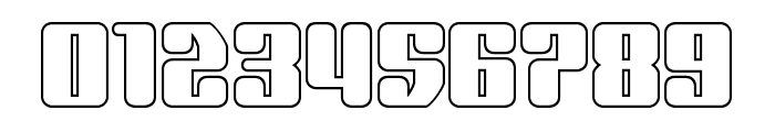 Quasar Pacer Outline Font OTHER CHARS