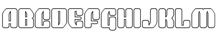 Quasar Pacer Outline Font UPPERCASE
