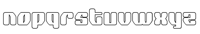 Quasar Pacer Outline Font LOWERCASE