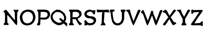 Quasbold Font UPPERCASE