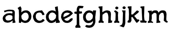 Quasbold Font LOWERCASE