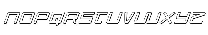 Quasitron 3D Italic Font UPPERCASE