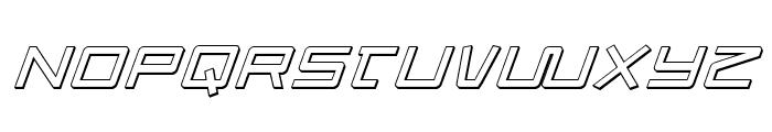 Quasitron 3D Italic Font LOWERCASE
