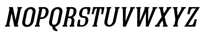 Quastic Kaps Italic Font LOWERCASE