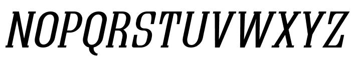 Quastic Kaps Line Italic Font UPPERCASE