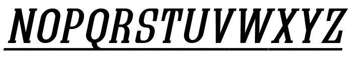 Quastic Kaps Line Italic Font LOWERCASE