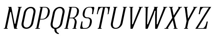 Quastic Kaps Thin Italic Font UPPERCASE