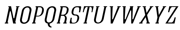 Quastic Kaps Thin Italic Font LOWERCASE