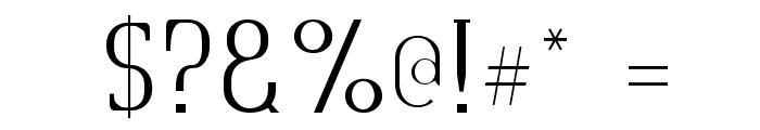Quastic Kaps Thin Font OTHER CHARS