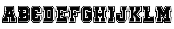 Quaterback Fight Campus Font UPPERCASE
