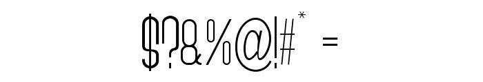 Quatronome Font OTHER CHARS