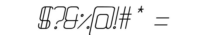 Quattro Light Italic Font OTHER CHARS