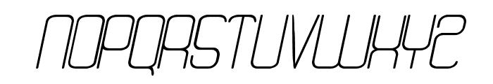 Quattro Light Italic Font UPPERCASE