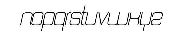 Quattro Light Italic Font LOWERCASE