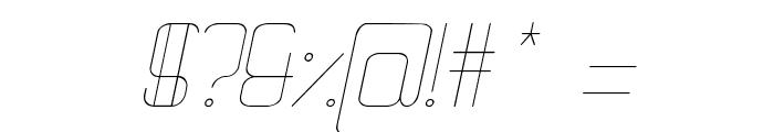 Quattro Thin Italic Font OTHER CHARS